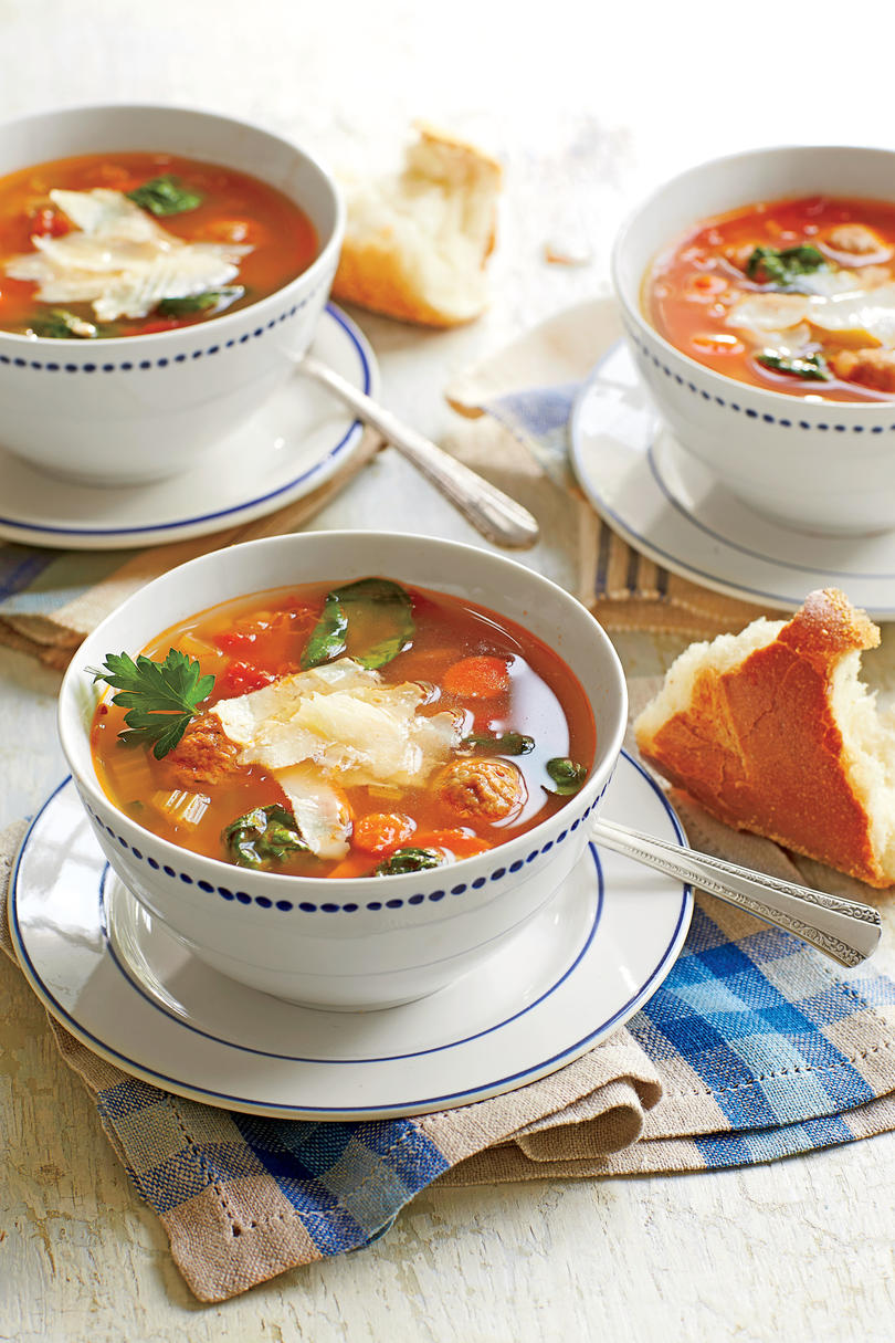 Italian-Style Turkey Meatball Soup Recipe