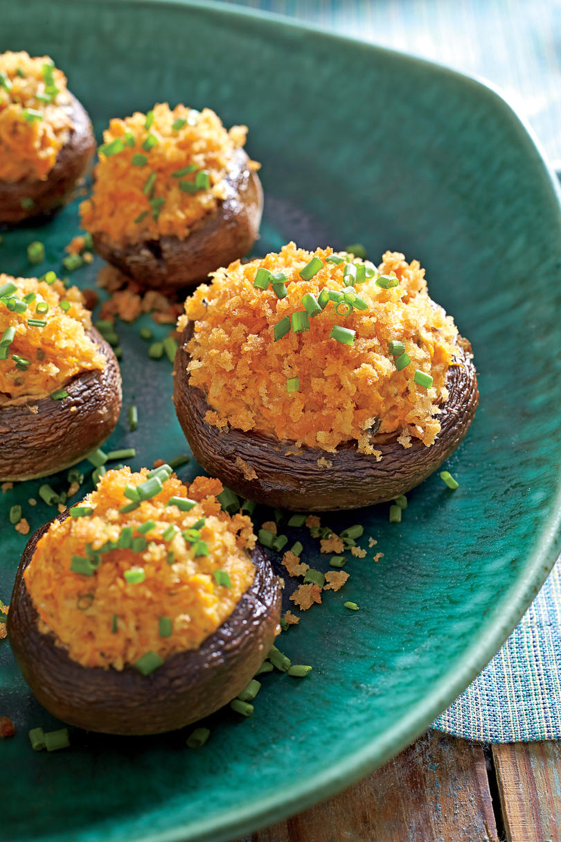 Butternut-Goat Cheese-Stuffed Mushrooms