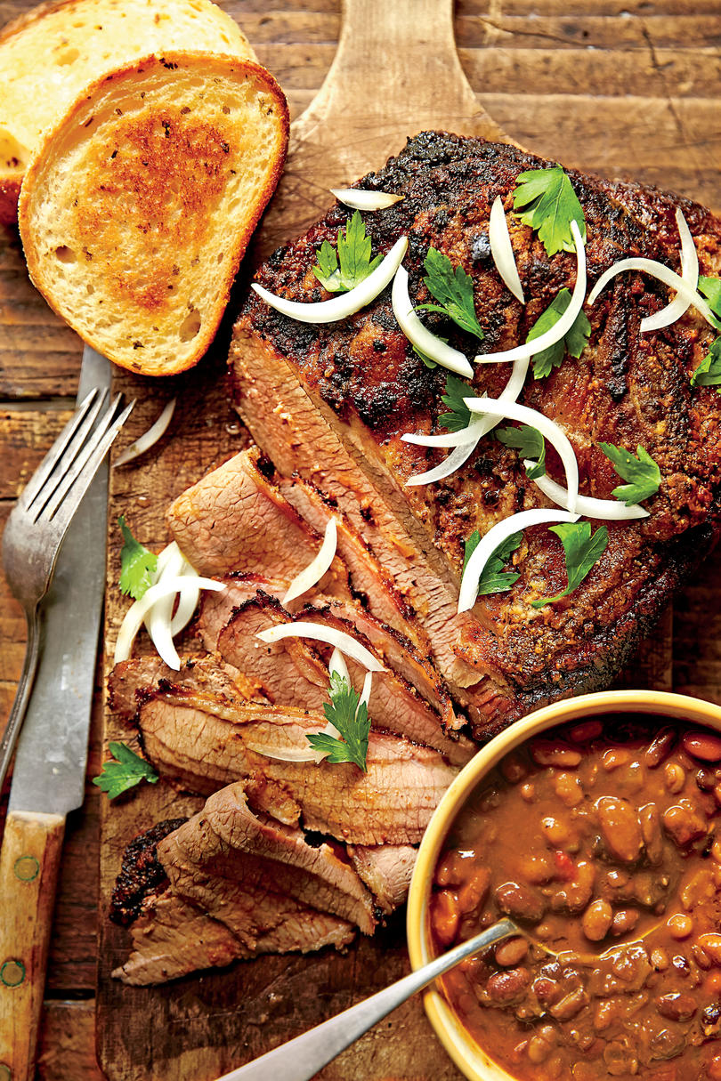 Slow-Cooked Cowboy Brisket and Beans Recipe