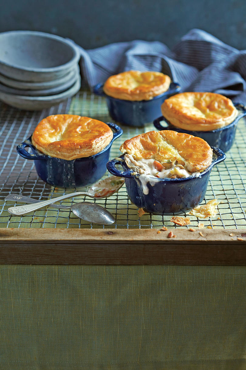 Oyster Bacon Pot Pie