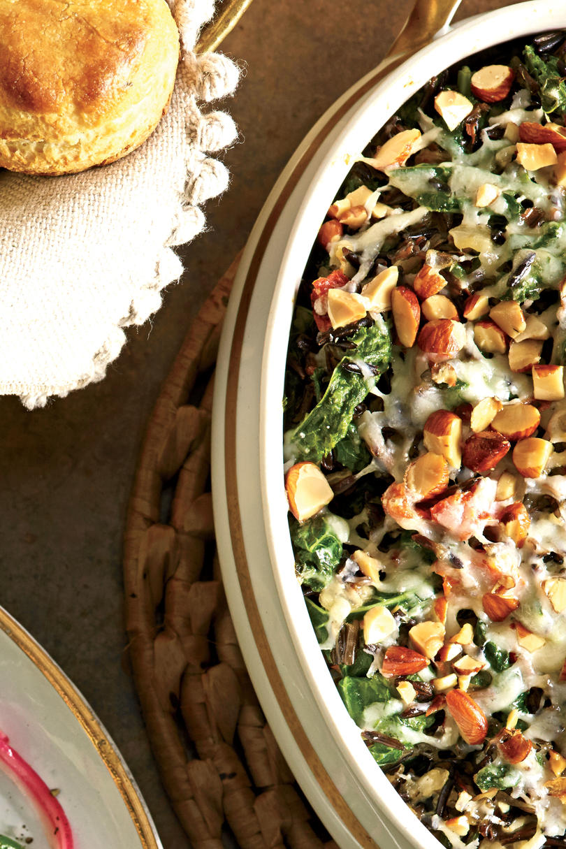Wild Rice-and-Greens Casserole