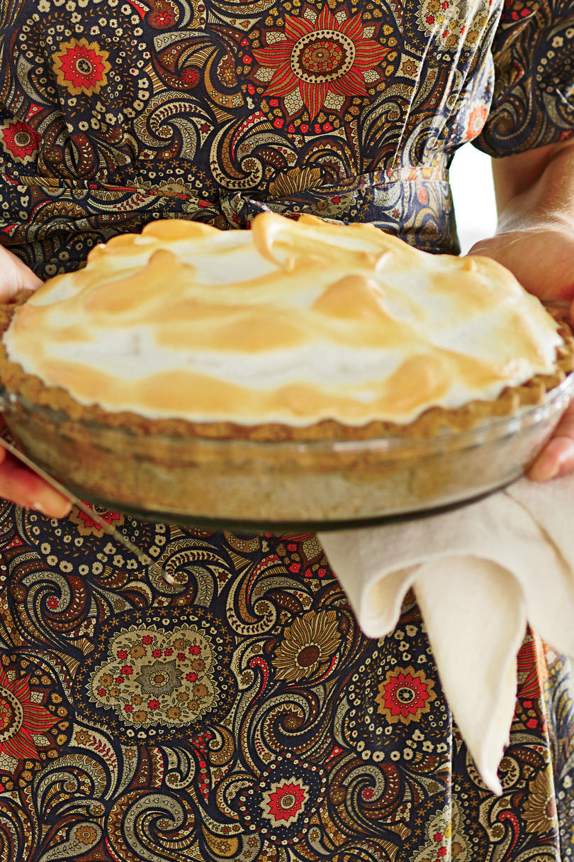 Butterscotch Meringue Pie with Pecan Crust Recipe
