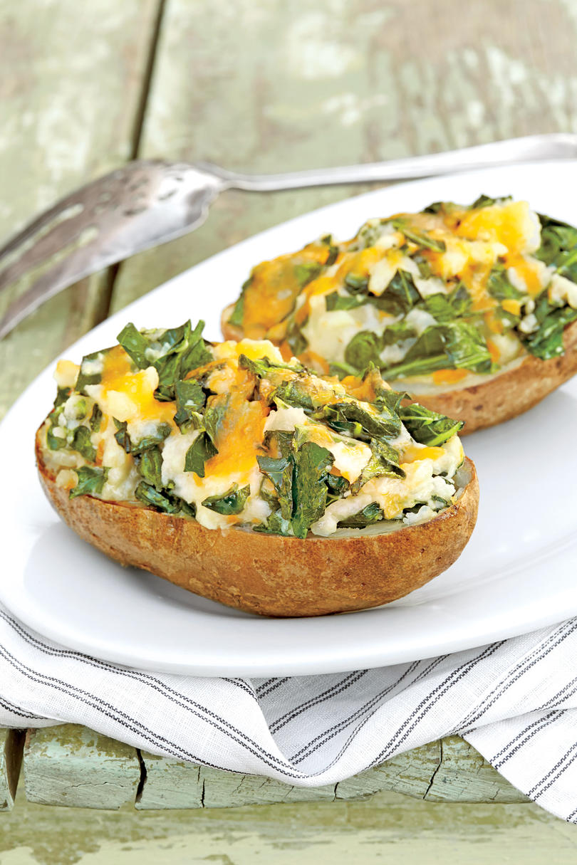 Twice-Baked Green Potatoes