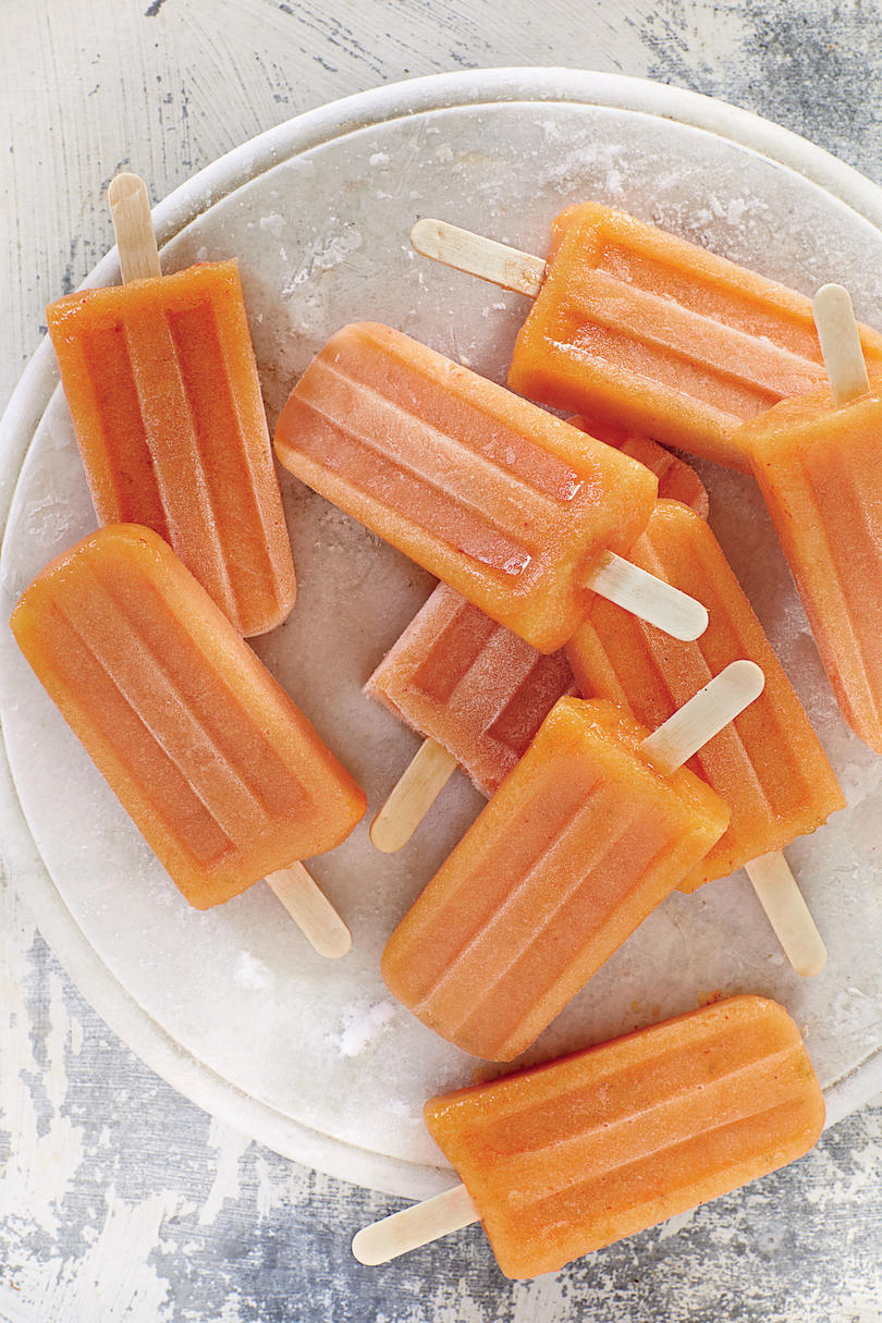Nectarine-Chile Ice Pops