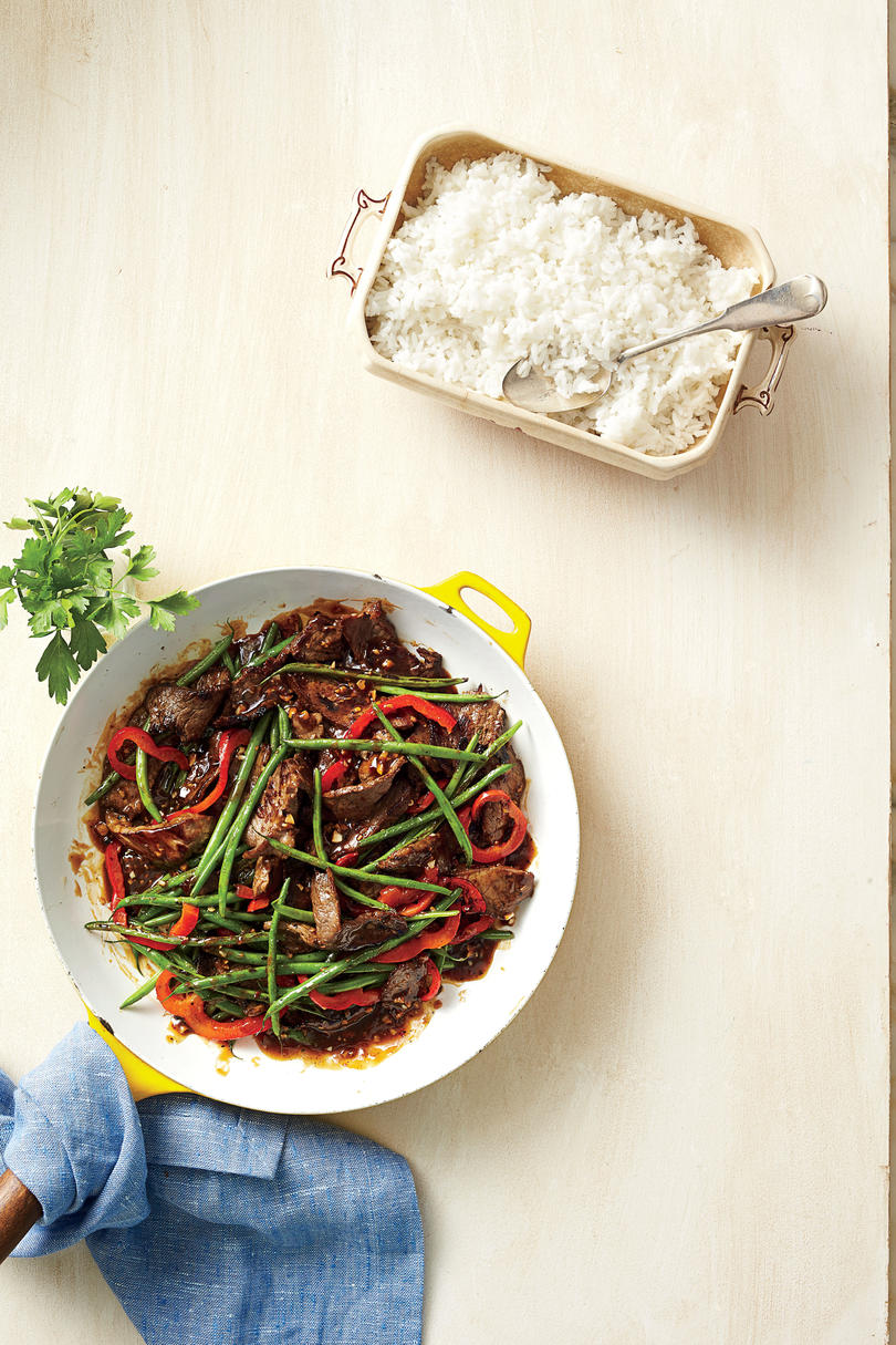Garlicky Beef-and-Bean Stir-Fry