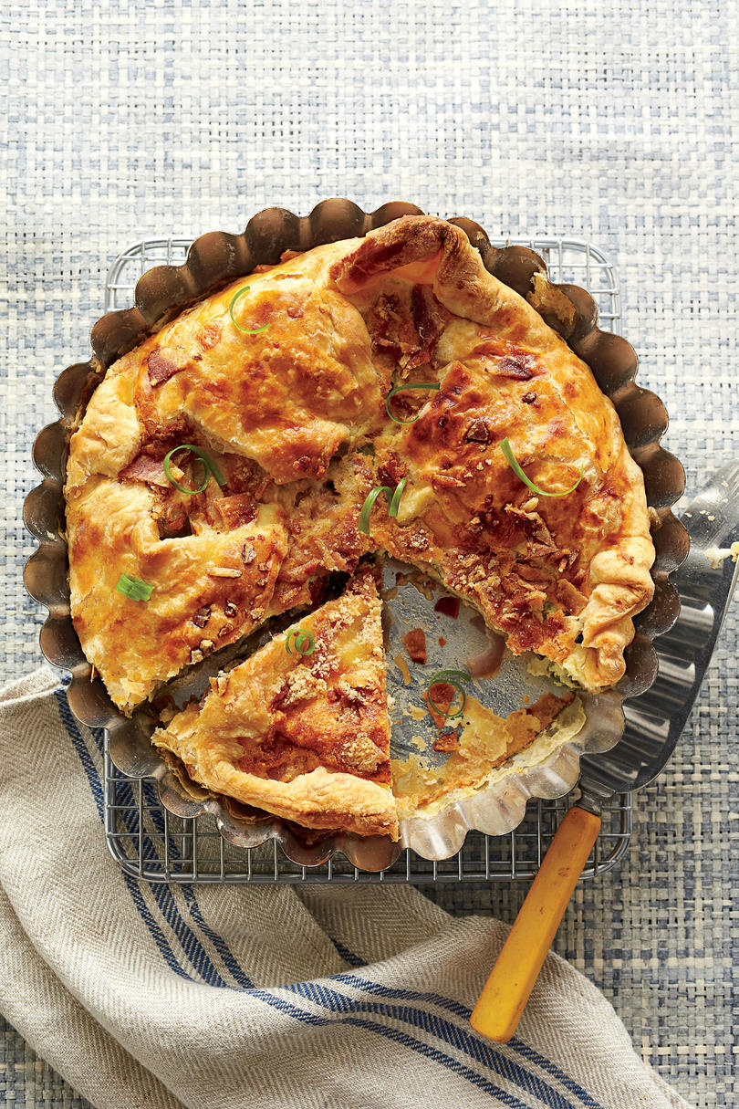 Cheesy Bacon-and-Two-Onion Tart