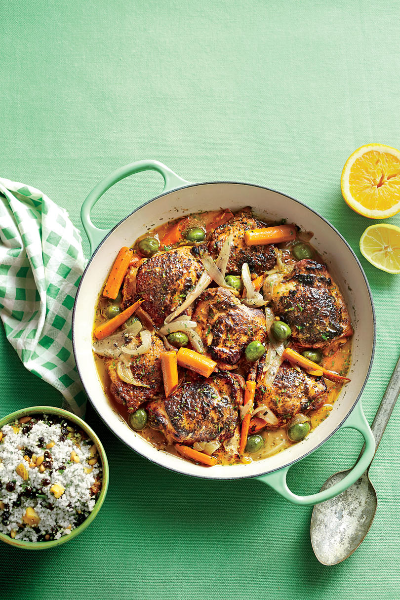 Citrus-Braised Chicken Thighs