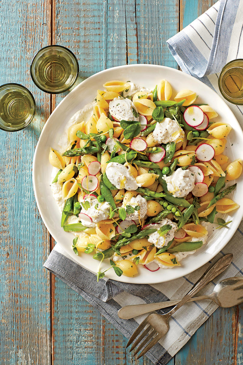 Pasta Shells with Spring Vegetables