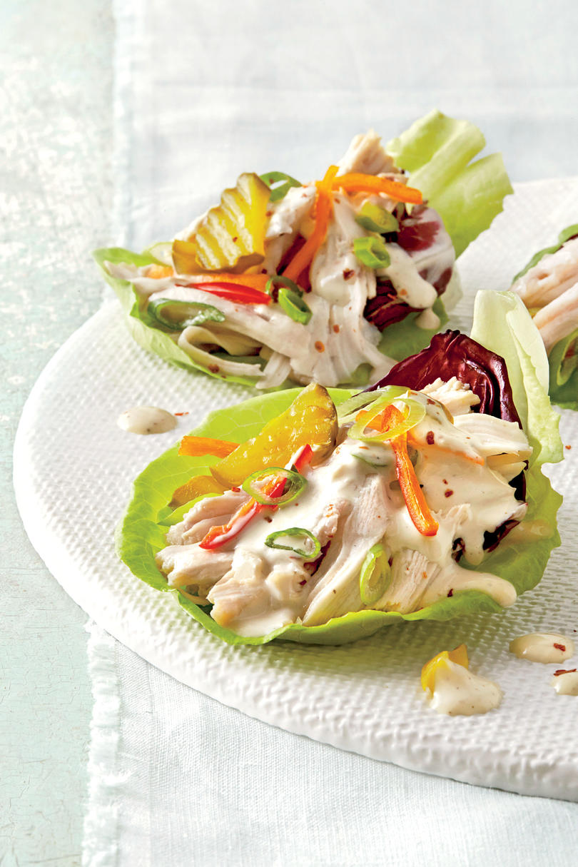 Slow-Cooker Chicken Lettuce Cups