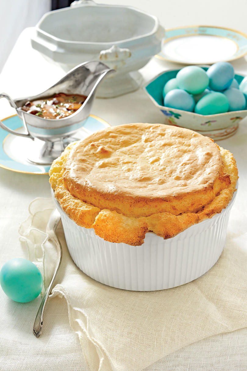 RX_1803_Easter Side Dishes for Lamb_Cheese Grits Soufflé with Mushroom Gravy