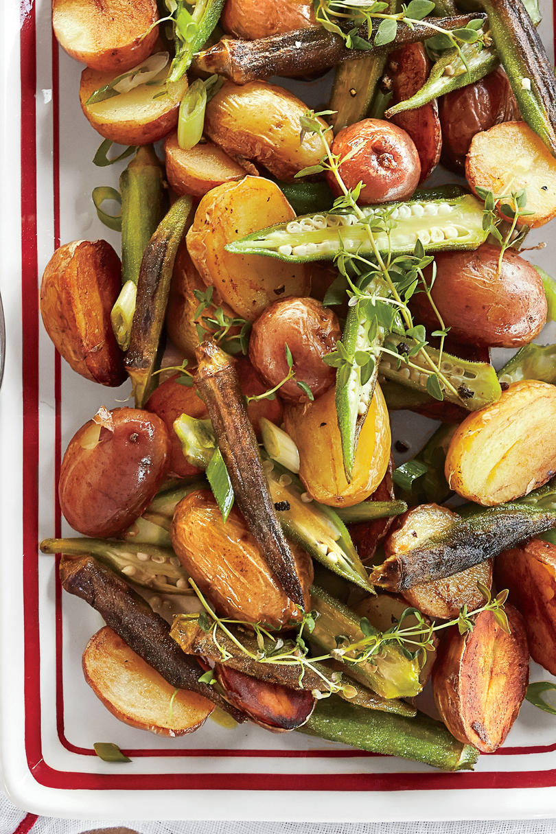 Roasted Potato-and-Okra Salad