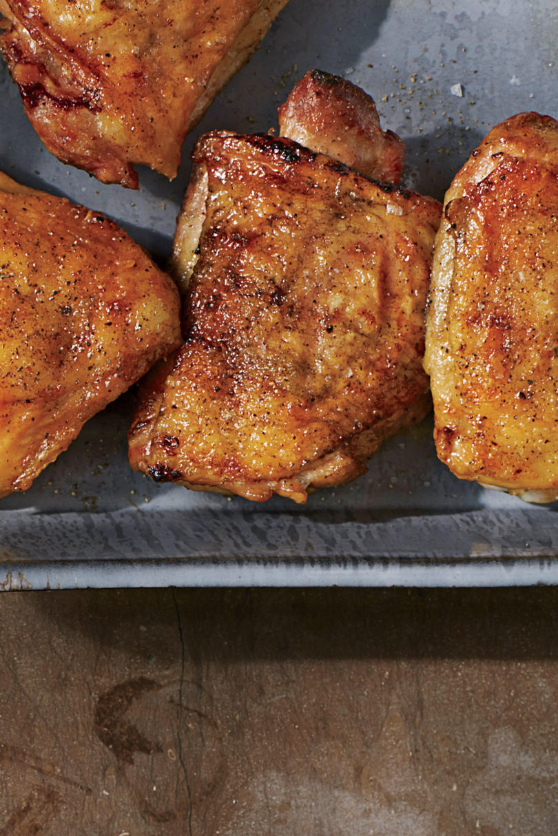 Crispy Salt-and-Pepper Grilled Chicken Thighs