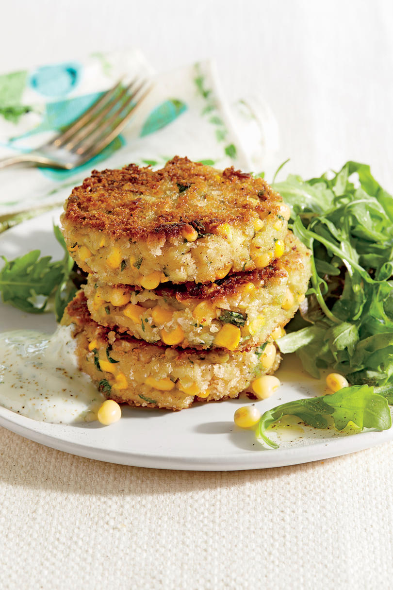 Lady Pea and Corn Patties