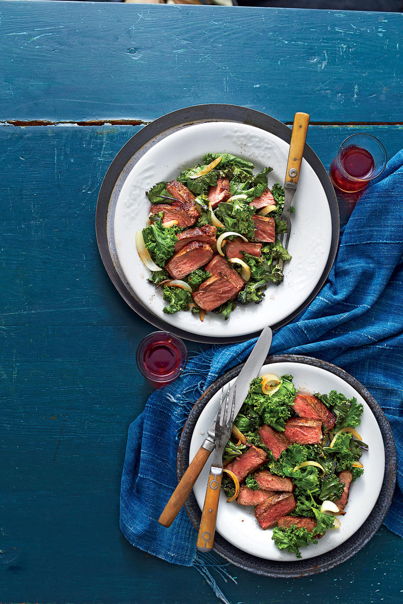 Skillet Steak and Wilted Kale