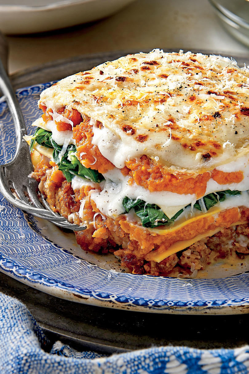 Pumpkin-and-Turnip Green Lasagna, fall recipes