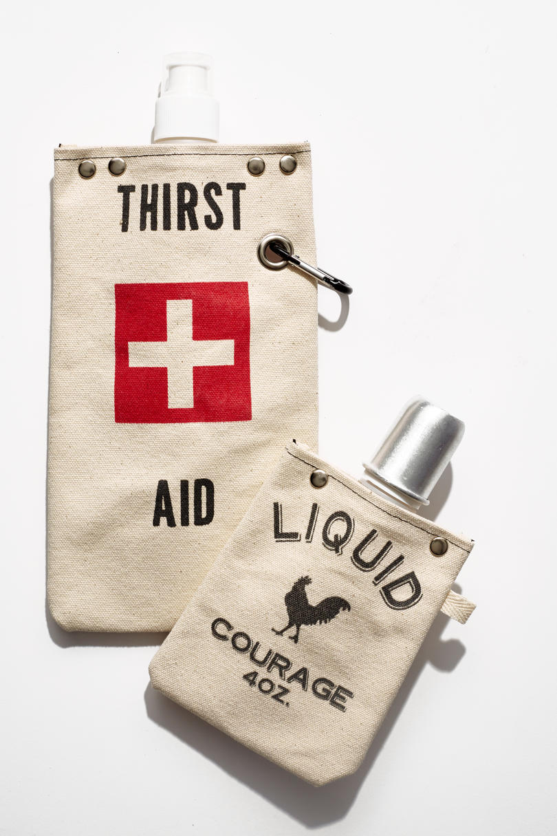 Tote+Able Canvas Flask