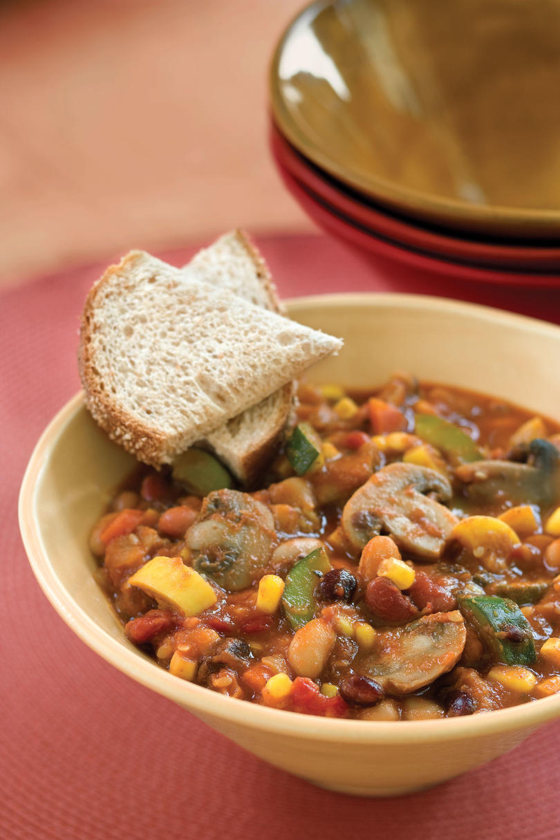 Slow-Cooker Veggie Chili