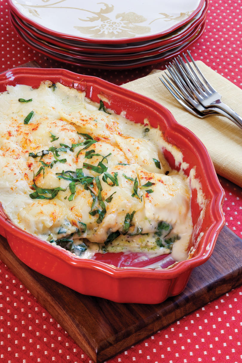 Spinach-Ravioli Lasagna Recipe