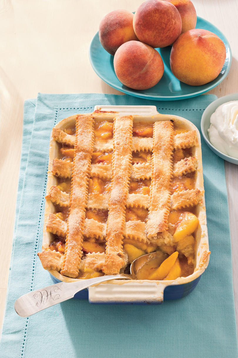 Summer Peach Recipes: Pecan-Peach Cobbler