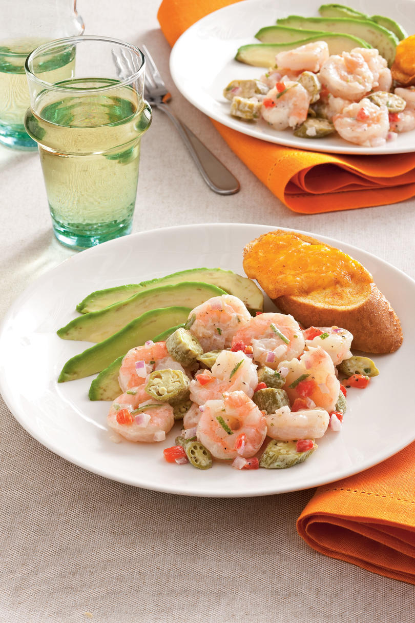 Seafood Dinner Party Ideas Part - 42: Pickled Okra And Shrimp Salad