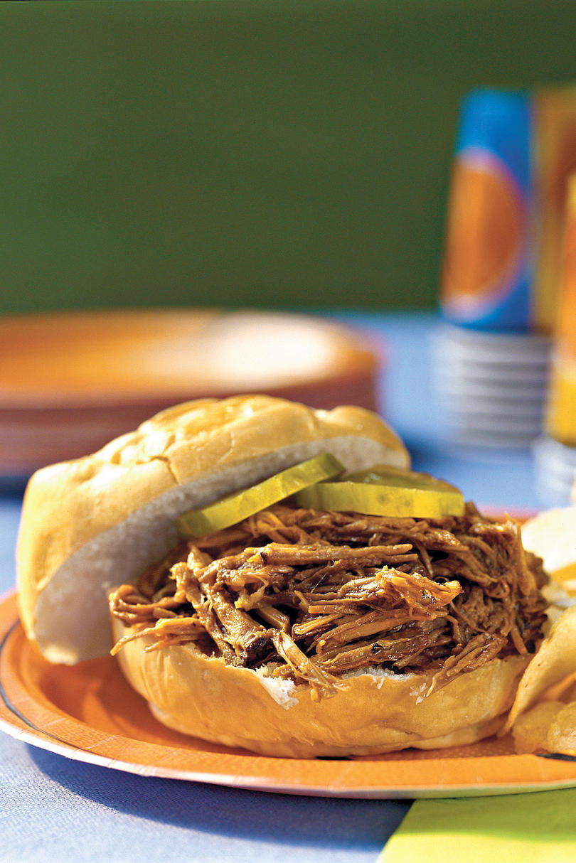 Slow-Cooker Barbecue Beef Sandwiches