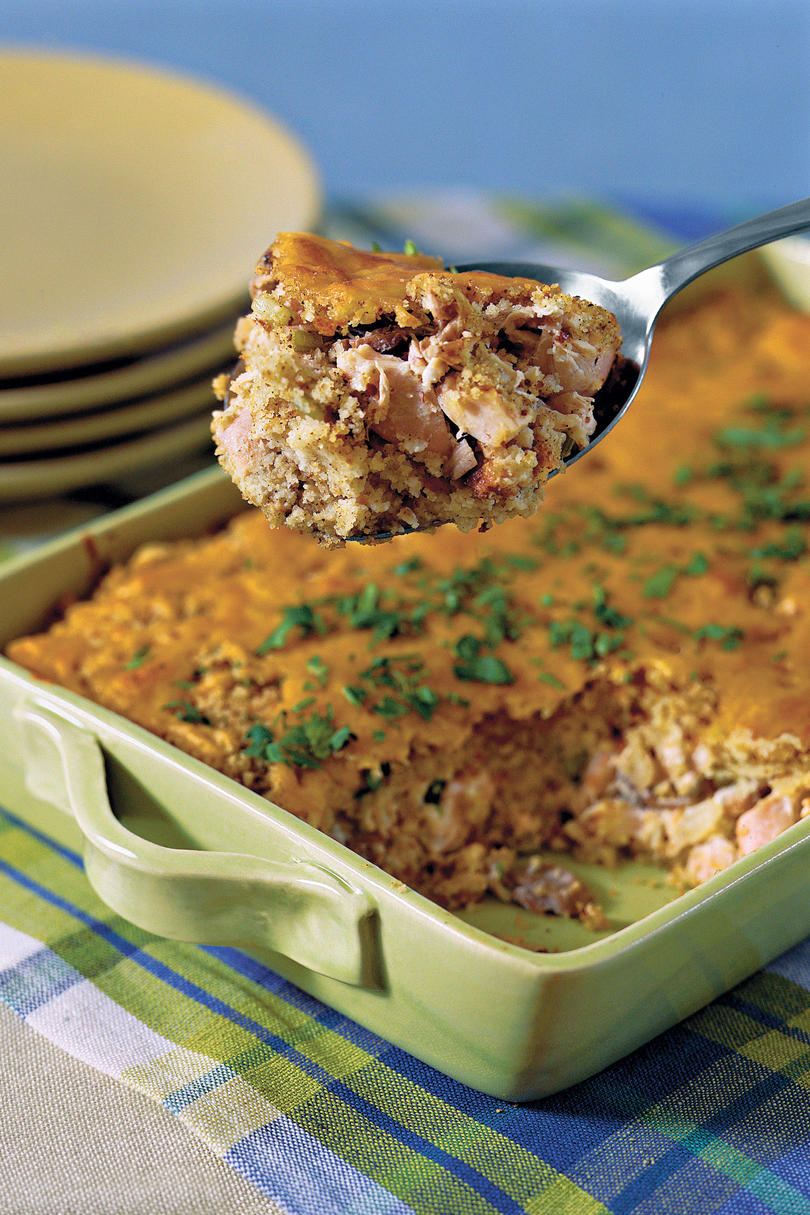 Chicken and Cornbread Casserole