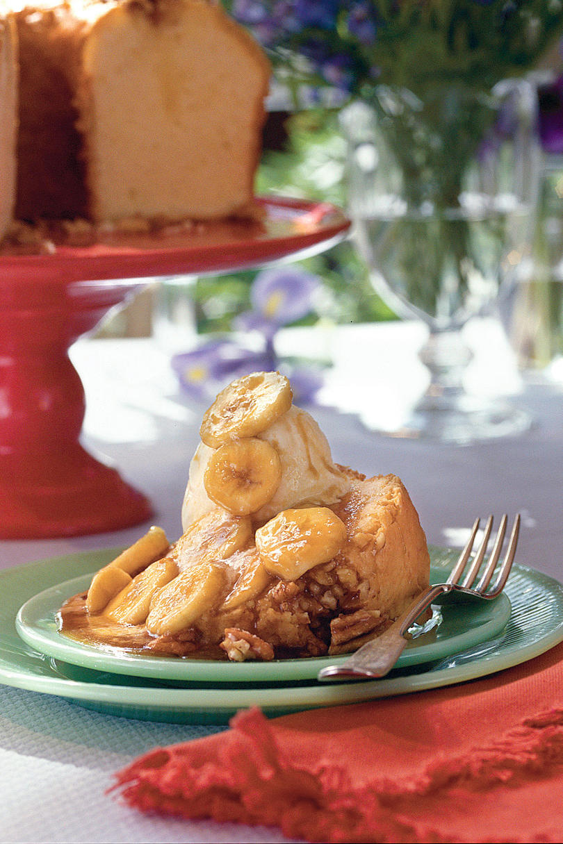 Buttered Rum Pound Cake with Bananas Foster Sauce Recipe