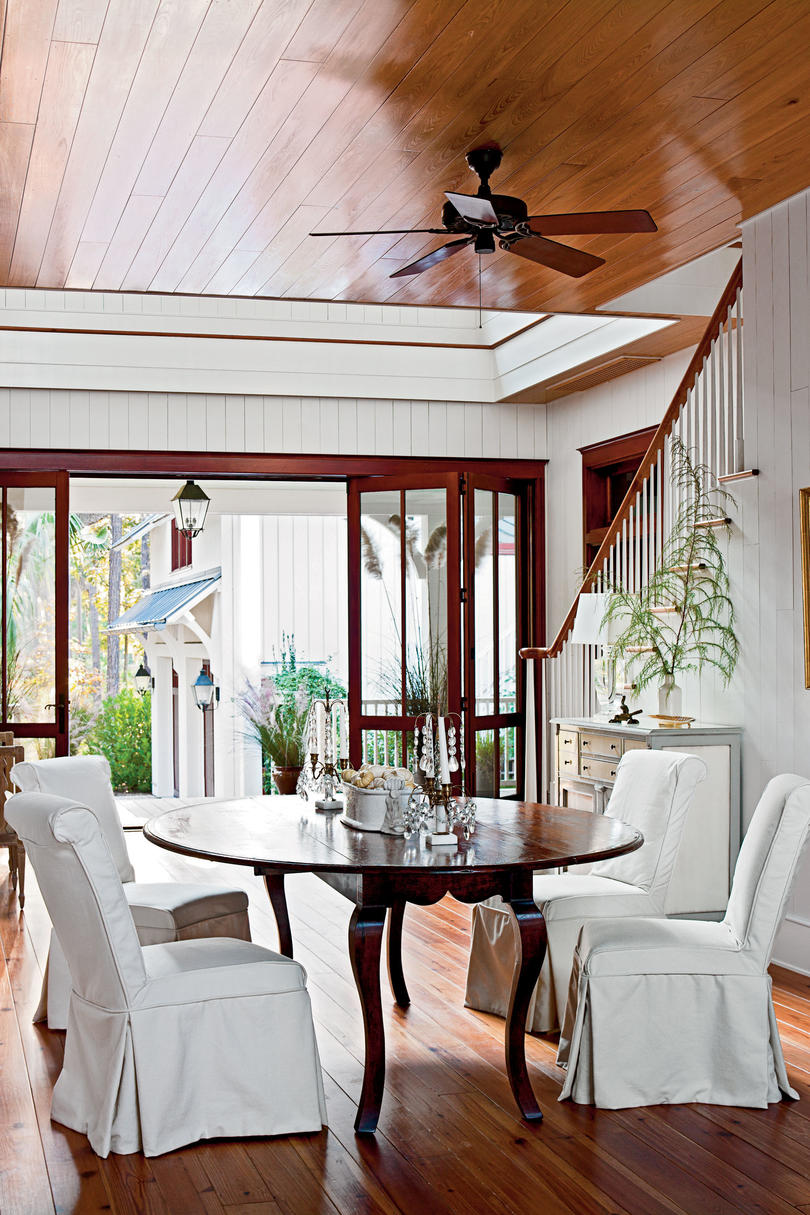 lowcountry style house southern living dining room