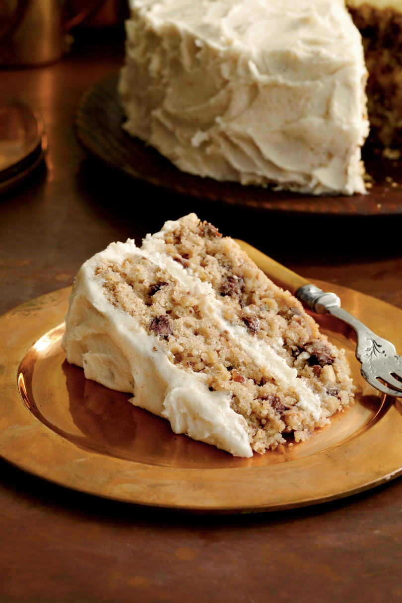 Mocha-Apple Cake with Browned Butter Frosting