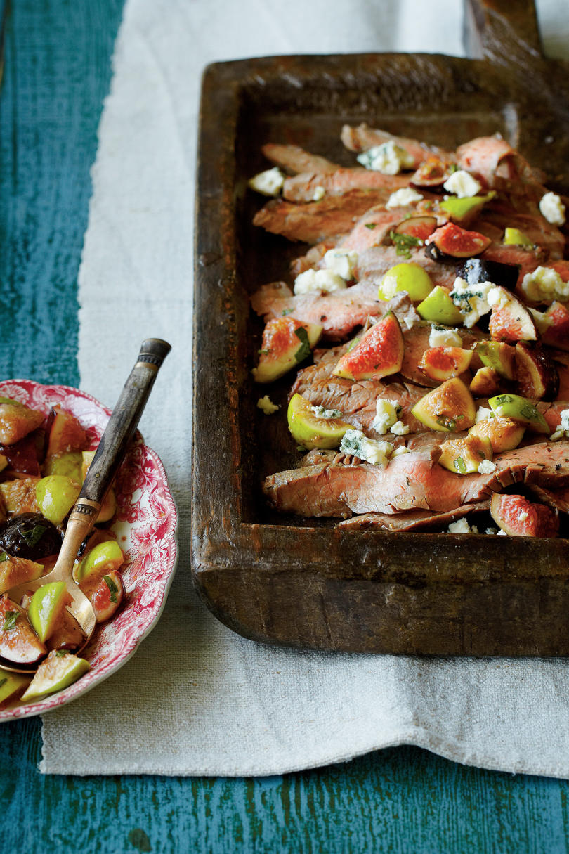 Rosemary Flank Steak with Fig Salsa
