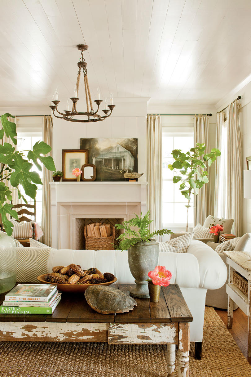 farmhouse restoration idea house tour southern living living room