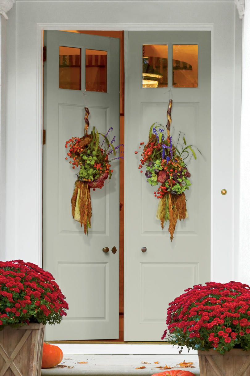 diy fall home decor we re dreaming about southern living broom door badge