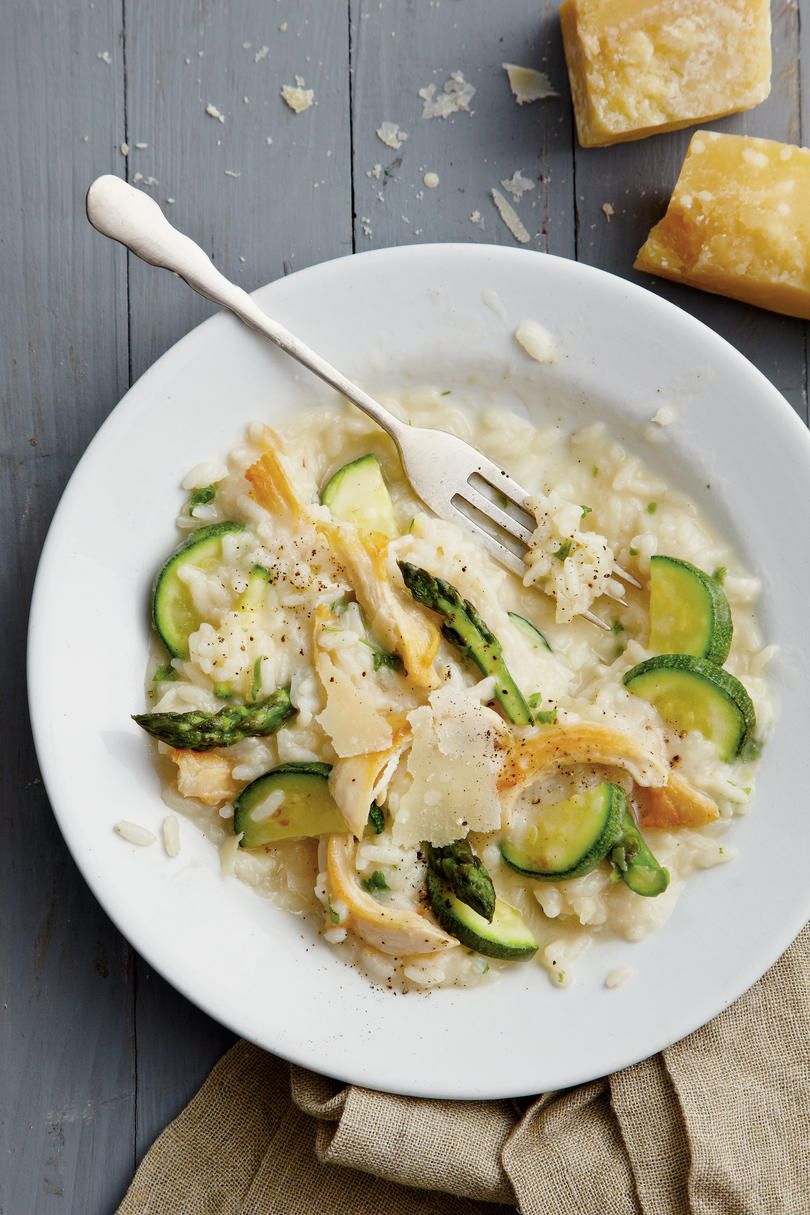 For Dinner-for-Two: Chicken Risotto with Spring Vegetables