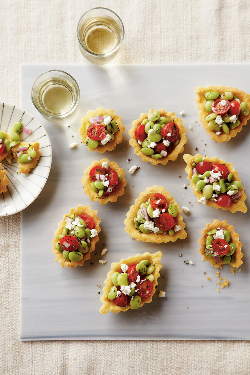 Cornbread Tartlets with Tomato-Lima Bean Relish Recipe