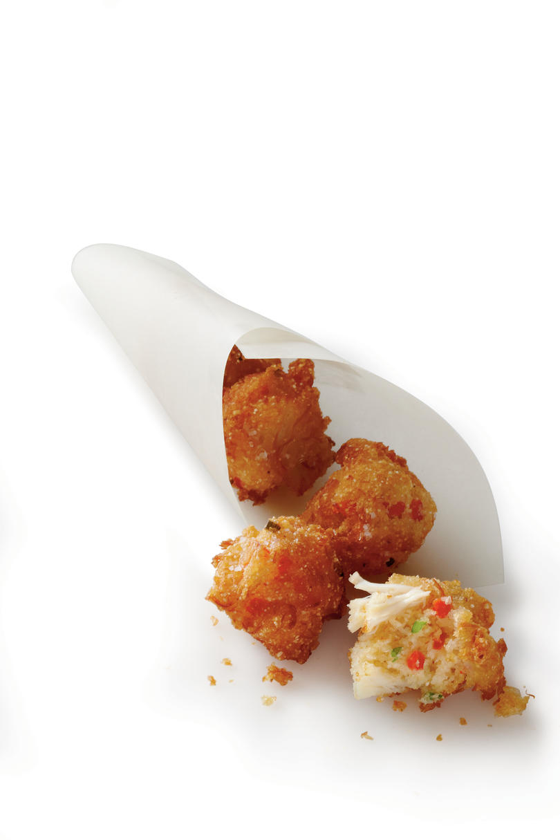 Crab Cake Hush Puppies