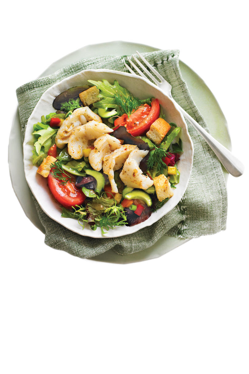 26 quick fix seafood suppers southern living greek salsa salad with grouper forumfinder Gallery