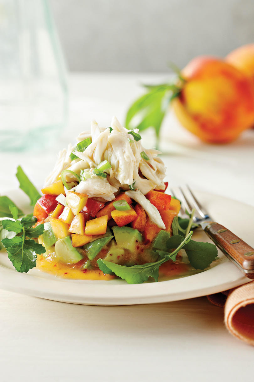 RX_ Crab Salad with Peaches and Avocados