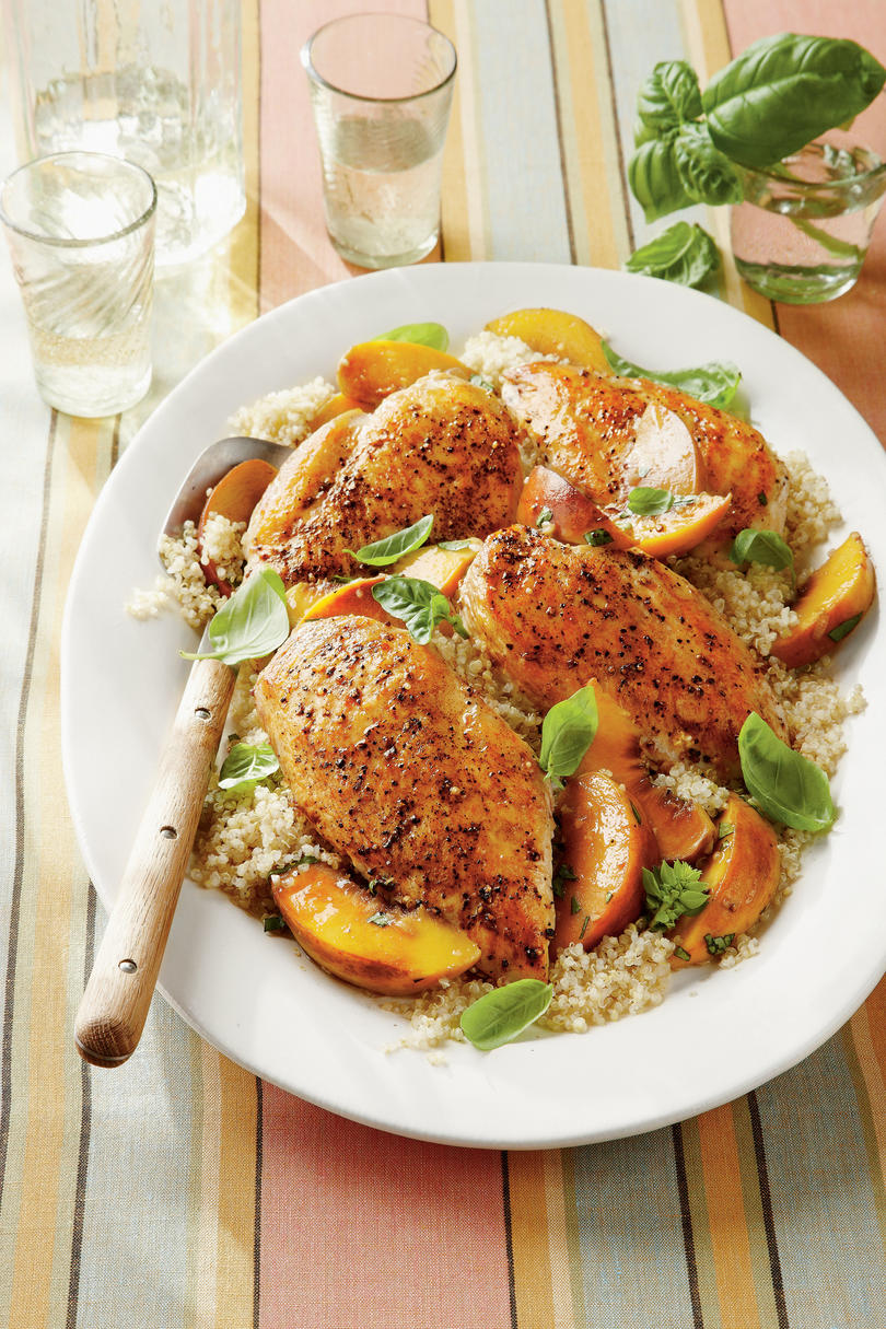 Wednesday: Basil-Peach Chicken Breasts