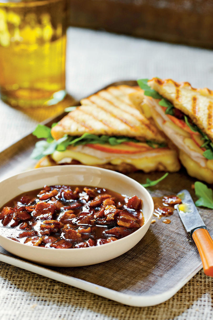 Turkey, Brie, and Apple Panini with Bacon Marmalade