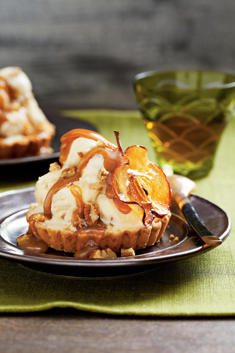 Caramel Apple Ice-Cream Tarts