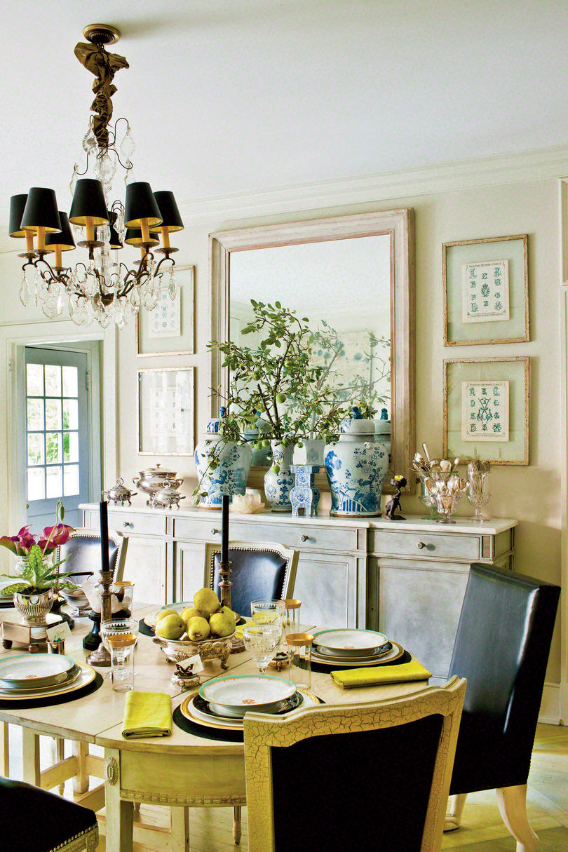 Take Inspiration from Antiques Stylish Dining Room
