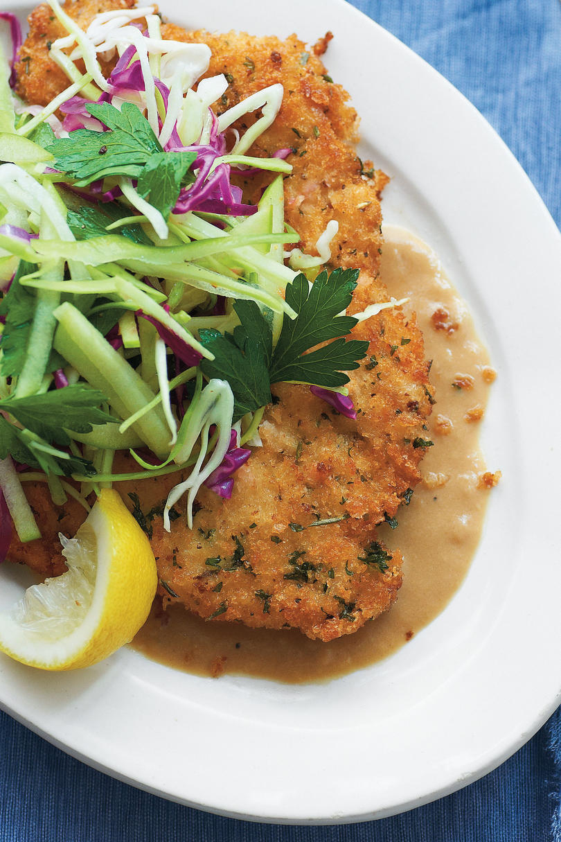 Fried Pork Chops with Caramelized Onion Gravy