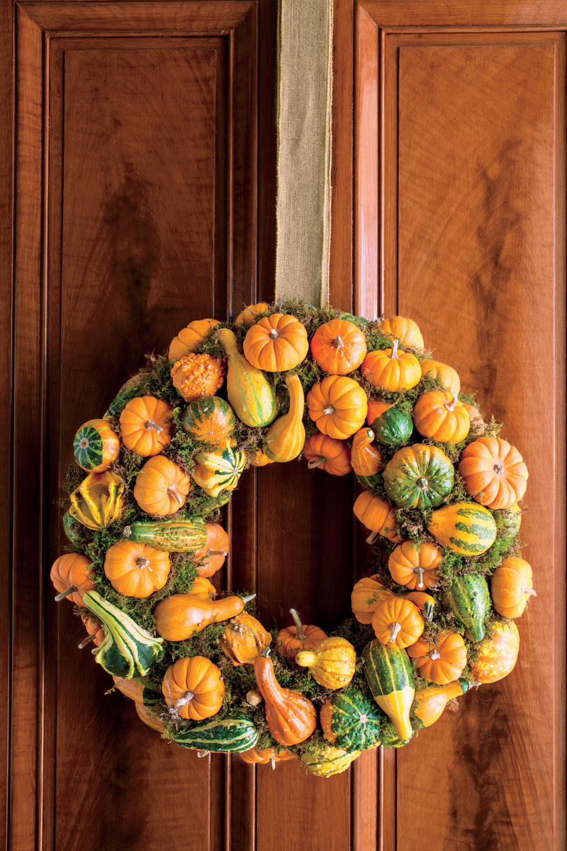 Pumpkin and Gourd Fall Wreath