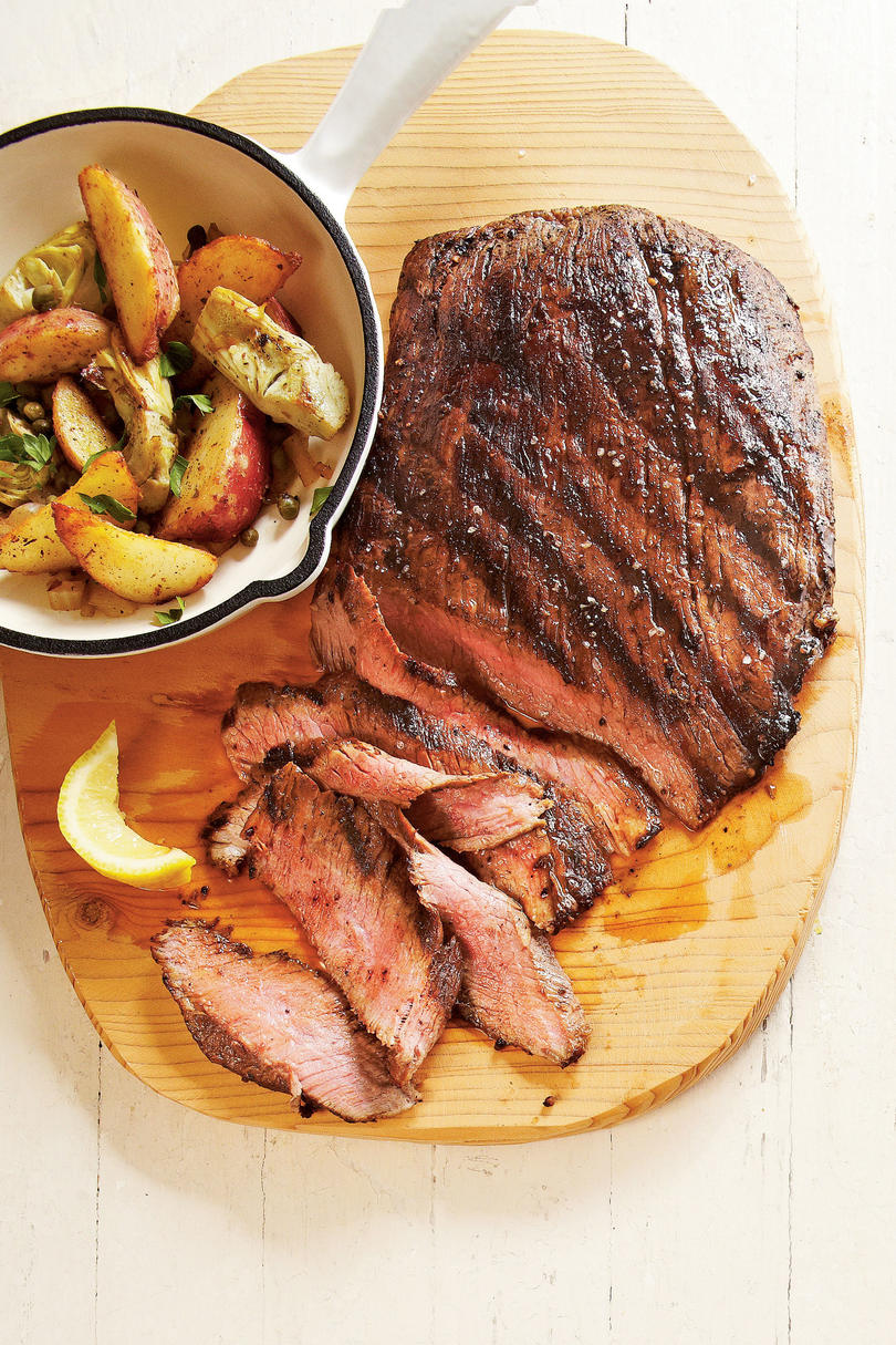 Seared Steak with Potato-Artichoke Hash