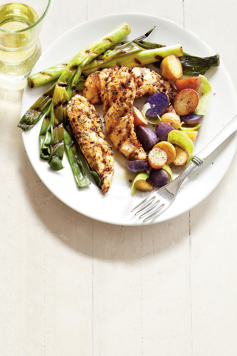 Romantic dinner recipes for two southern living grilled chicken and new potatoes forumfinder Images