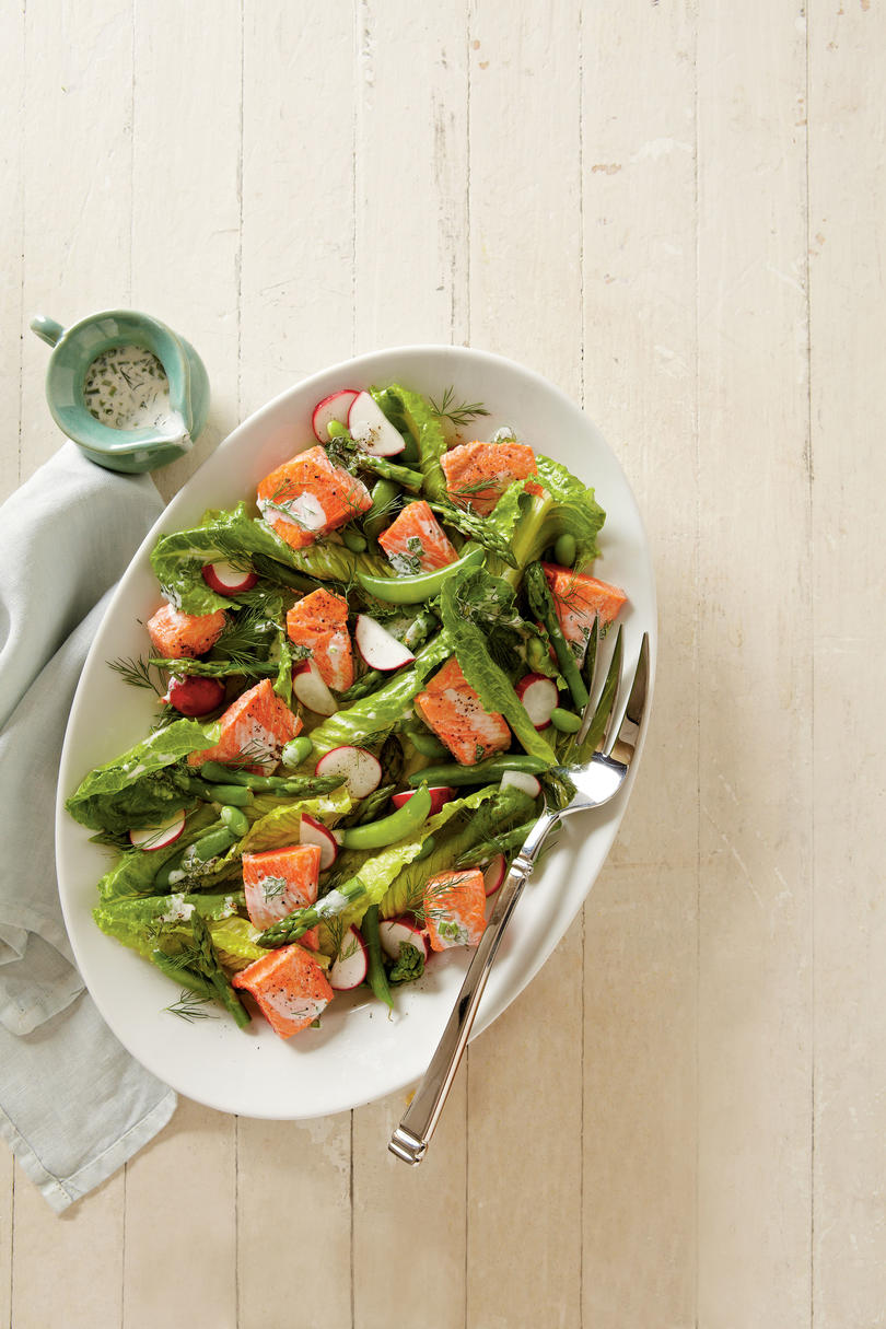 Spring Salmon and Vegetable Salad