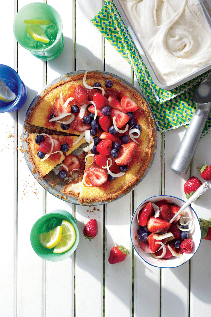 Whiskey Pie with Tipsy Berries