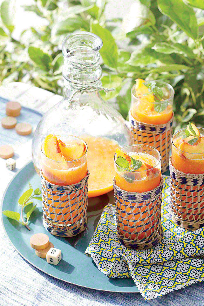 Frozen Peach Old Fashioneds