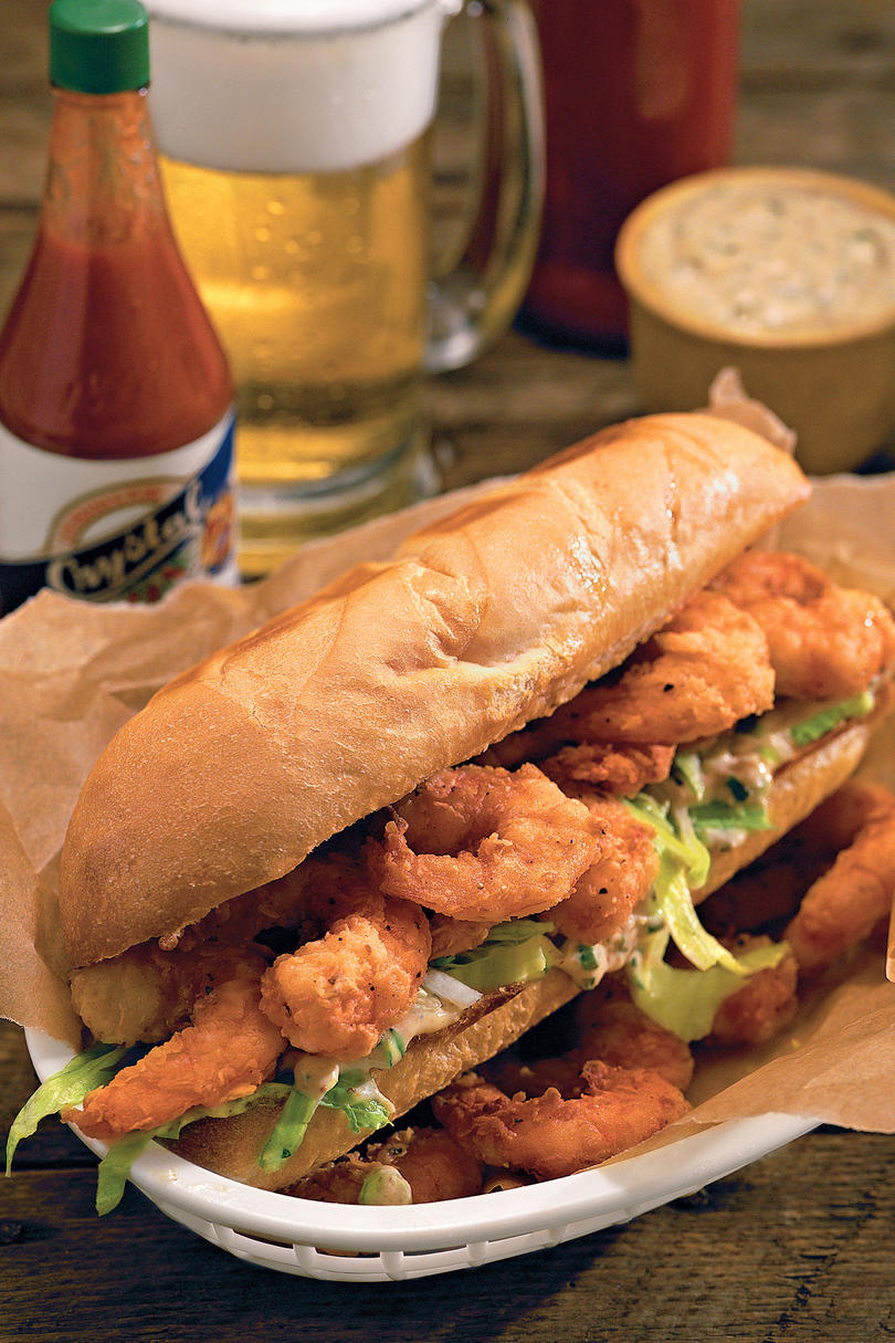 Zesty Shrimp Po'boys