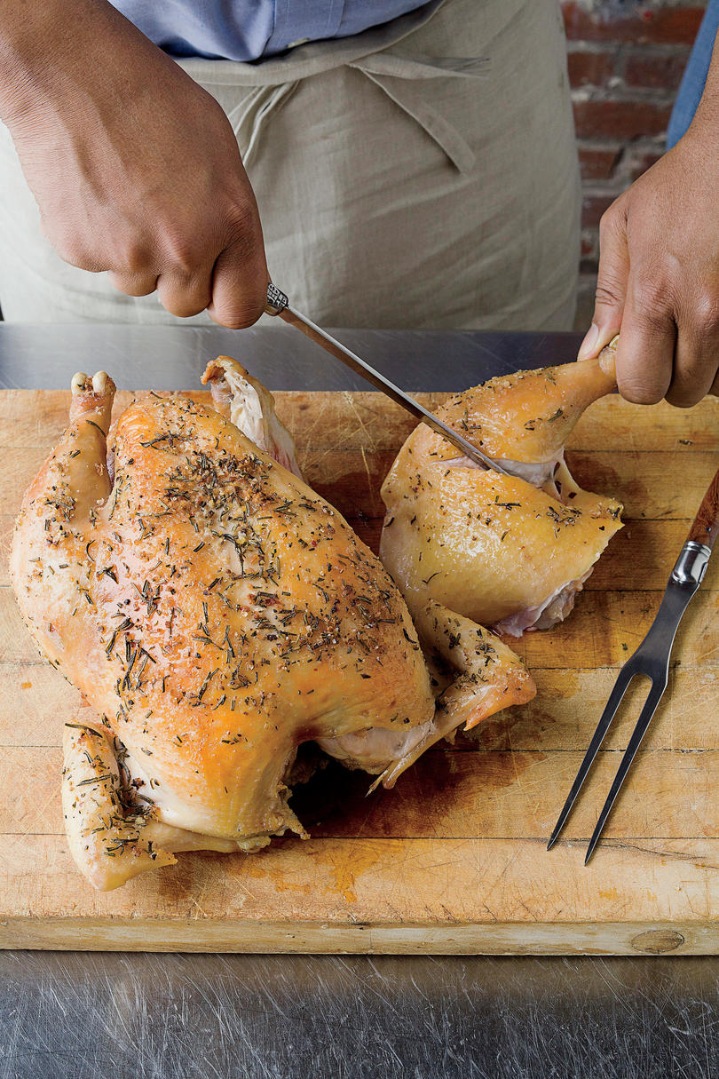 How To Carve a Chicken: Step 3